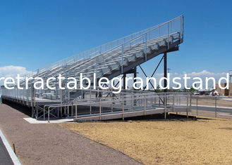 Customized Aluminum Outdoor Bleachers For Horse Show / Motor Race