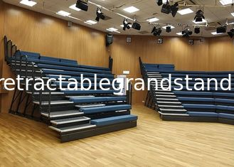 Customized Arena Stage Seating Retractable Wall Attached Unit Platform For Auditorium