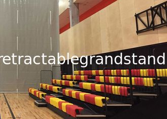 Spectator Telescopic Sports Stadium Seats Recessed Unit Platform With Optional Seat Color