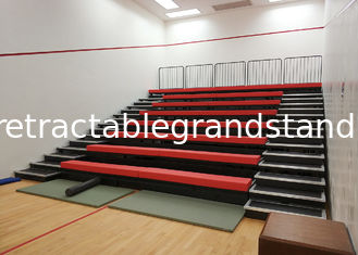 Sport Facilities Retractable Grandstands Seating HDPE / Upholstery Material