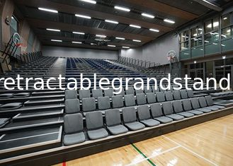Sports Venues Spectator Retractable Audience Seating Wall Attached Unit With Aisle Steps