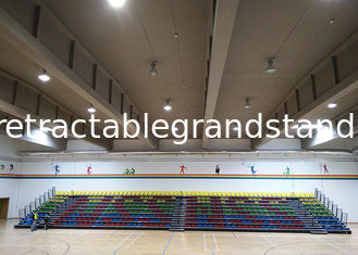 Innovative Arena Stage Seating Wall Attached Unit With Intermediate Aisle Handrails