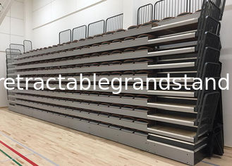 Moveable Temporary Grandstand Seating Wall Attached Unit Platform With Rear Guardrail