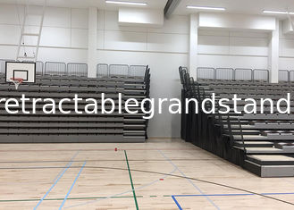 Wall Attached Retractable Theater Seating , Telescopic Seating Systems For Play Areas