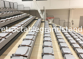 HDPE Seat Material Telescopic Tribunes Customized With Foldable Nose Mounting Seat