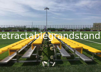 Outdoor Portable Aluminum Sports Benches , Temporary Spectator Stands With HDPE Seat