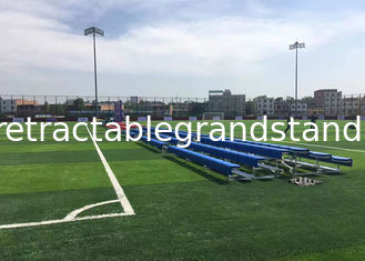 Portable Bleachers Temporary Stadium Seating Rubber Foot Pads / Caster Brakes