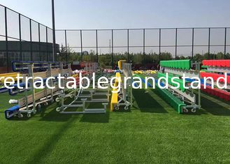 Modular Temporary Grandstand Seating Stands Aluminum Frame With Customized Bench Seat