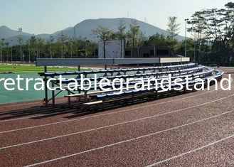 Portable Temporary Seating Stands Solid Structure With High Density Polyethylene Seat