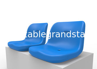 Sturdy Plastic Sports Stadium Seats Polymer Material Middle Backrest For Bleachers