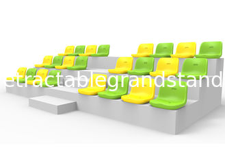 Plastic Football Fixed Stadium Seating Double Wall Backrest With Optional Color