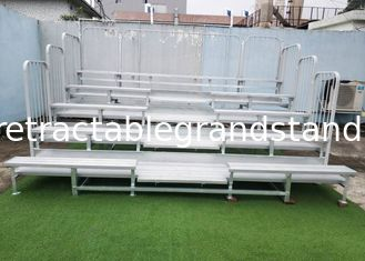 Outdoor Aluminum Permanent Grandstands 203mm Riser Height With Double Decks