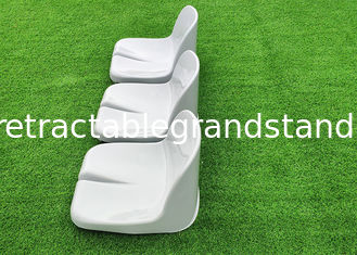 Outdoor Football Fixed Stadium Seating Chair Polymer Material Steel Bracket