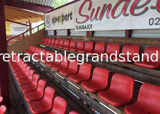 HDPE Plastic Fixed Stadium Seating Polymer HDPE Material With Middle Backrest