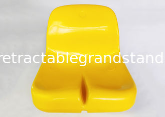 Triple Fixed Auditorium Seating , Football Stadium Seats Polymer Material Durable