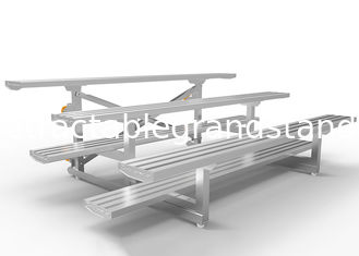 Pneumatic Wheels Outdoor Bleacher Seating Single / Double Foot Plank Easy Assembly