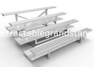 Anodized Outdoor Aluminum Bleachers Seat 150mm Riser Height With Double Foot Planks