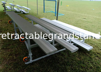 Temporary Aluminum Portable Grandstands Outdoor Removable Rubber Pneumatic Wheels