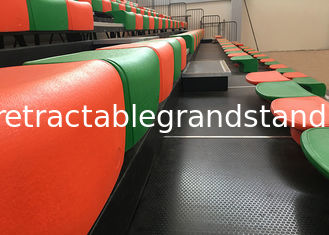 Gym Spectator Retractable Bleacher Seating Customized Colors For School Halls