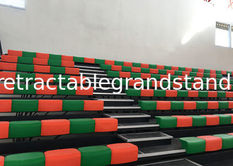 Spectator Retractable Raked Seating Gym Movable Bleacher with Customized Color