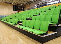 China Gymnasium Retractable Stadium Seating Anti - Slip Plywood Decking With Blow Moulded Seats company