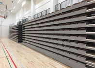 Easily Operated Telescopic Stadium Seating Systems Durable With HDPE Gray Seats