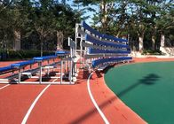 China Moveable Aluminum Grandstands Sports Metal Structure Bleachers Single / Double Foot Planks company