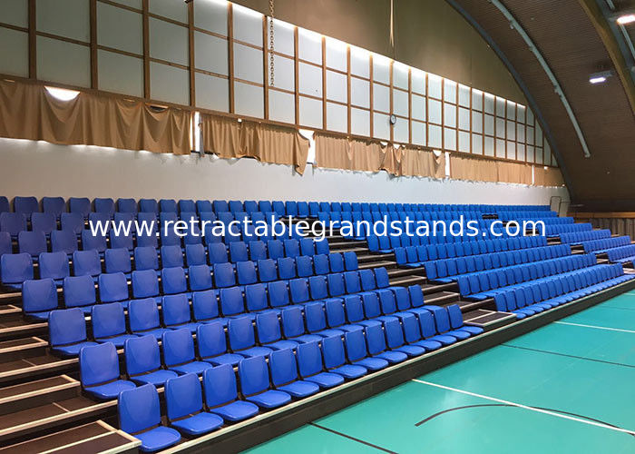 Retractable Stadium Seating Telescopic Bleacher Seat with Folding Back
