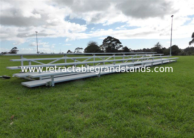 Safe Fixed Temporary Grandstand , Portable Outdoor Bleachers For Soccer / Football Field