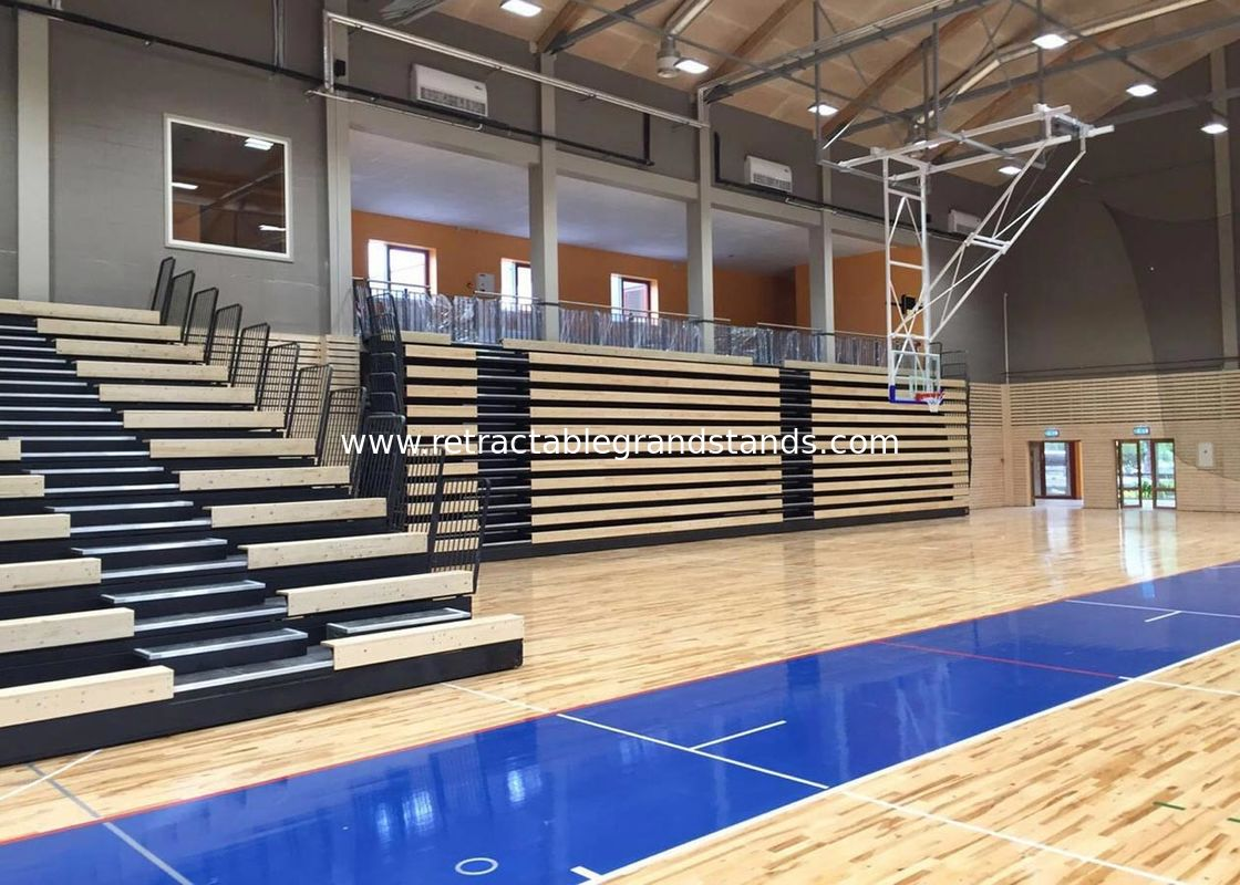 Basketball Court Retractable Grandstands , Row Letter Retractable Platform System