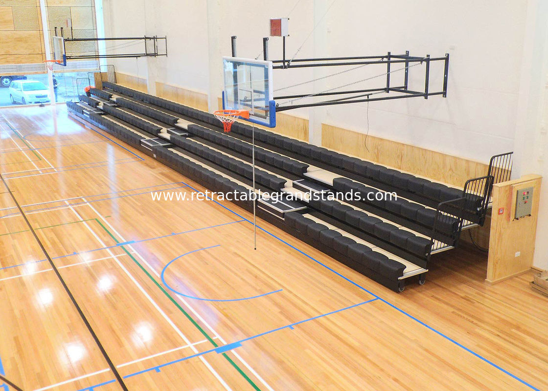 Sport Court Collapsible Bleachers Seating Chair HDPE Material Optional Row Letter