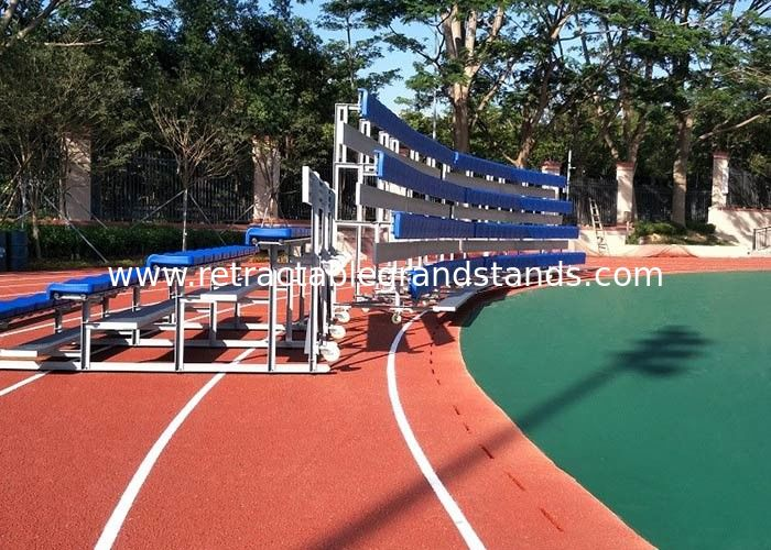 Moveable Aluminum Grandstands Sports Metal Structure Bleachers Single / Double Foot Planks