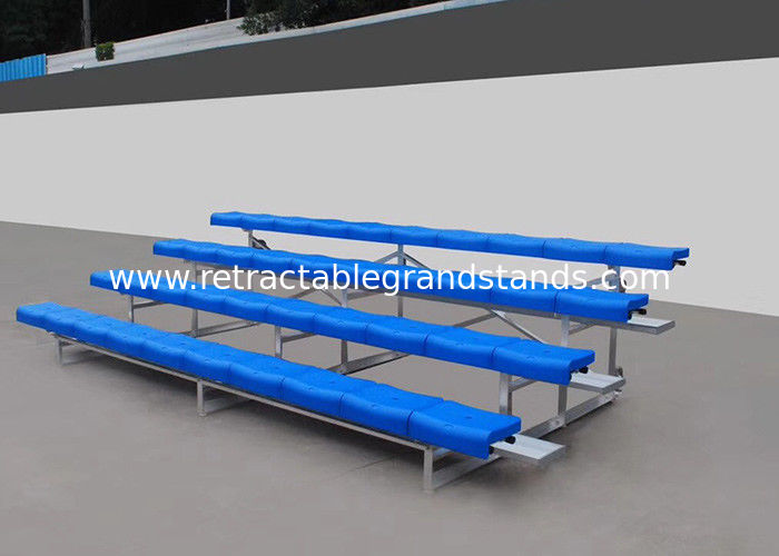 Fixed Aluminum Stadium Bench Seating Bleachers Grandstands With Little Maintenance