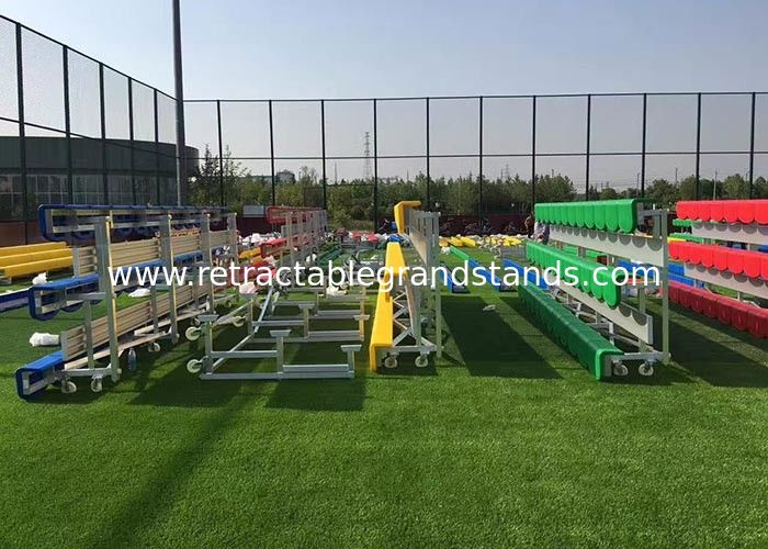 Modular Temporary Grandstand Seating Stands Aluminum Frame With