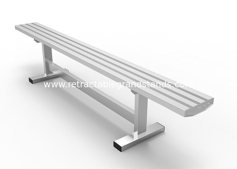 Long Life Aluminum Grandstands Portable Bench With Non Rusting Aluminum Frame