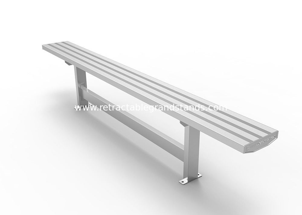 Outdoor Aluminum Grandstands , Fixed Aluminum Bench Modular For Sport Court