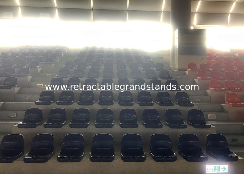 Simple Mounted Stadium Seating Chair , Arena Stage Bleacher Seats For Schools