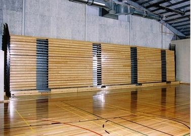 China Spectator Retractable Bleacher Seating Fire Retardant For Indoor Gyms factory