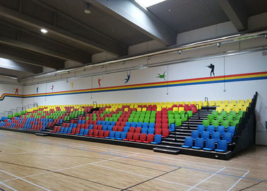 China Bespoke Retractable Theater Seating / Retractable Indoor Bleachers With Riser Mounting factory