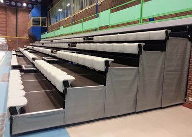 China High Density Polyethylene Retractable Bleacher Seating Tailored To Spectator Comfort factory