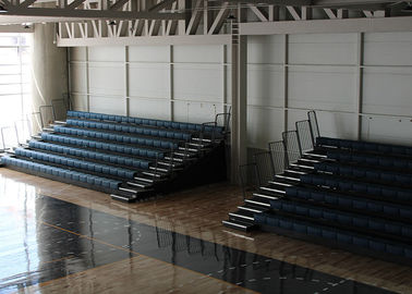 China HDPE Material Retractable Audience Seating Wall Attached Bleacher For Stadium factory