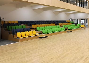 China Athletic Place Retractable Bench Seating , Retractable Bleachers For Gymnasiums factory