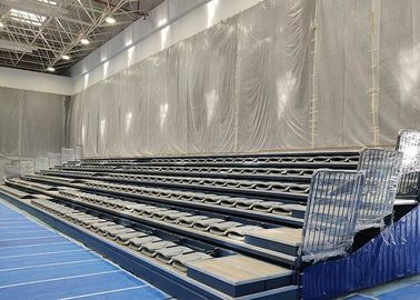 China Eletrical Retractable Bleacher Seating Melody Polymer HDPE For Sport Center factory