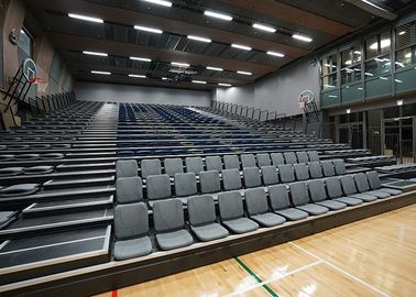 China Sports Venues Spectator Retractable Audience Seating Wall Attached Unit With Aisle Steps factory