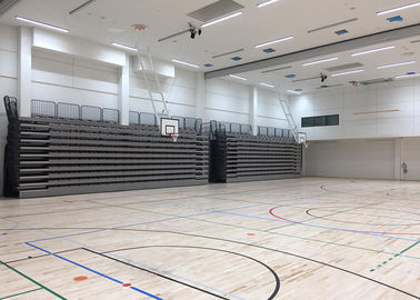 China Remote Wireless Control Retractable Audience Seating For Institute Sport Hall factory