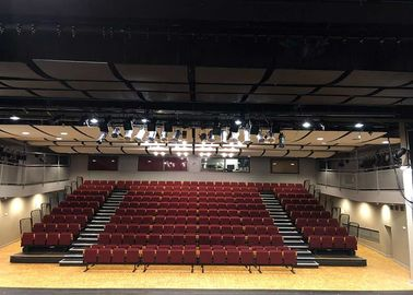 China Auditorium Retractable Indoor Bleachers Steel Frame For Gymnasiums Theater Seating factory
